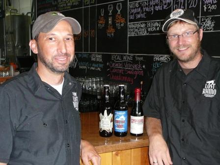 Favio Garcia and Jasper Akerboom in Lost Rhino Tap Room