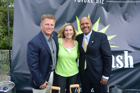 Green Flash owners Mike and Lisa Hinkley with Secretary of Commerce and Trade, Maurice Jones