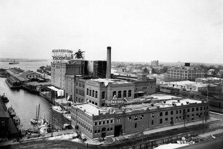 Budweiser factory operated in downtown Norfolk where the USS Wisconsin is docked today.