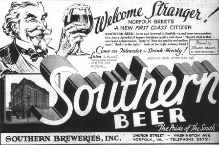 Southern Beer ad that appeared in the May 26, 1934 Virginian-Pilot just after the repeal of prohibition.