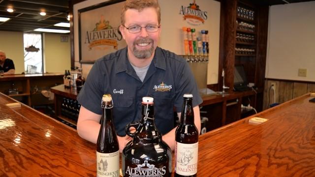 Alewerks brewmaster Geoff Logan