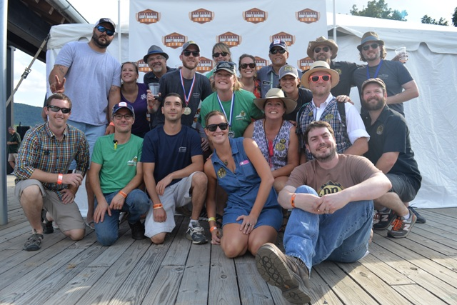 (Devils Backbone team enjoys another medal)