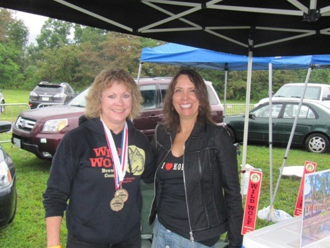 Mary Wolf of Wild Wolf Brewing chats with writer Diane Catanzaro