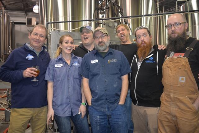 Bill Butcher (far left) and his brew crew at Port City